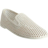 These fresh white slip-ons would look cool with cuffed denim and a slouchy tee.  Stella McCartney Perforated Slip-On ($665)