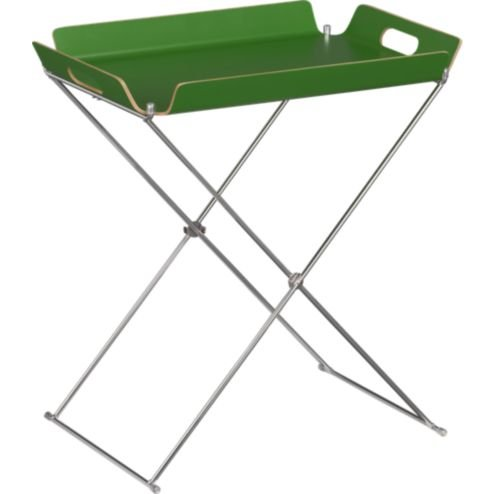 This collapsable and portable Formosa Clover Tray Table ($40) is just the thing for accommodating breakfasts in bed or cocktail guests.