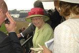 Queen Elizabeth sported this green and red number when she made an appearance at the Derby in 2007.
