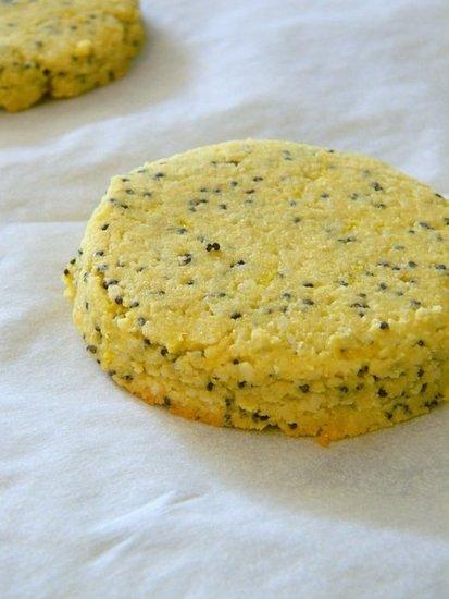 GF, Vegan Lemon Poppyseed Cookies