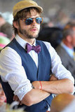 Ashton Kutcher watched the Kentucky Derby.