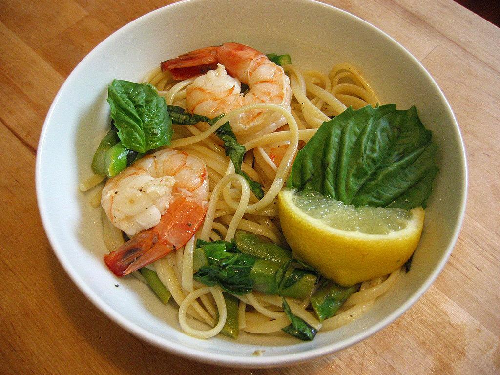 Linguine With Shrimp and Asparagus