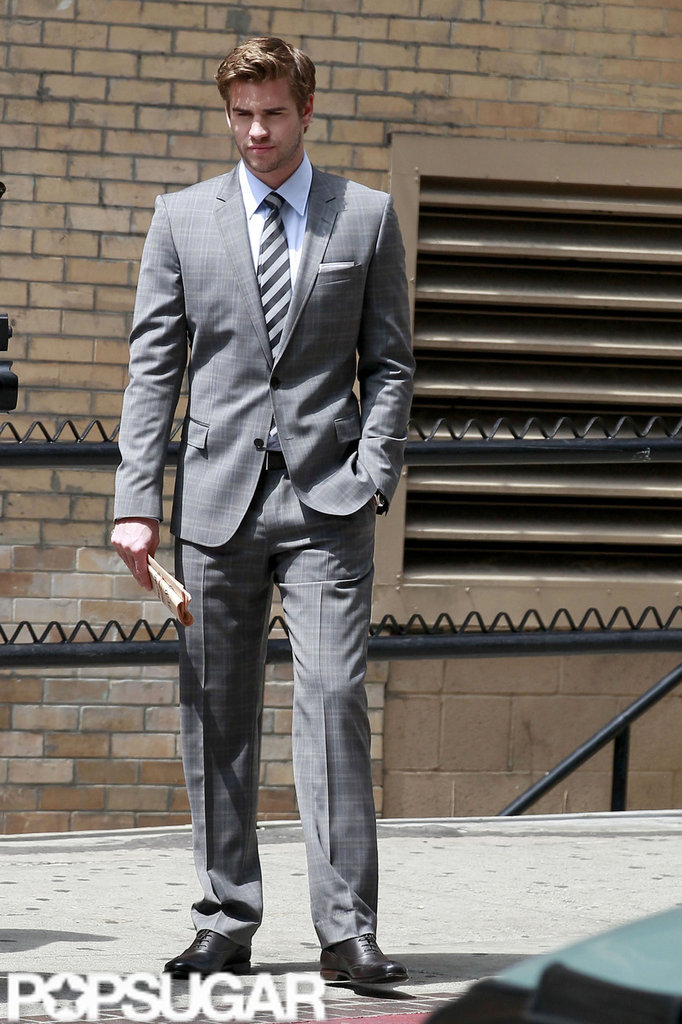 Liam Hemsworth wore a suit  for a Men's Health photo shoot in LA.