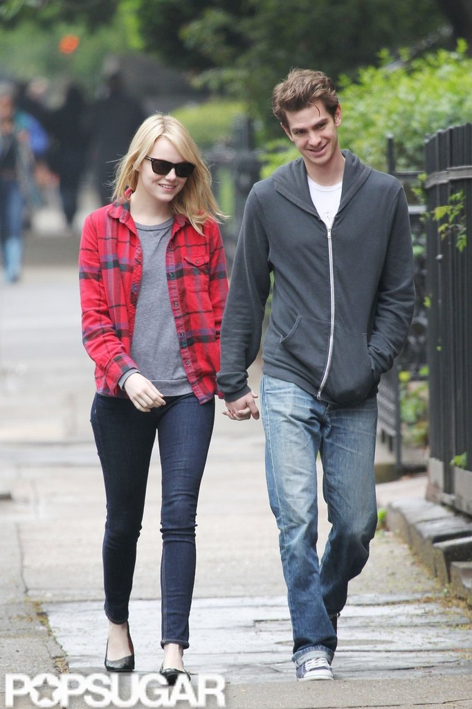 Emma Stone and Andrew Garfield held hands and laughed while walking together in New York City.