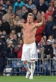 David Beckham's hot abs were on display in Madrid after a February 2007 game.