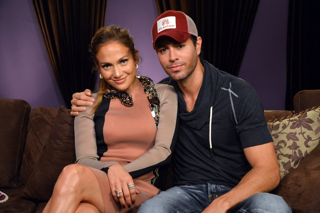 Jennifer Lopez got together with Enrique Iglesias at a press conference to announce their tour.