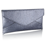 No. 1 by Jenny Packham Dark Grey Glitter Clutch ($65)