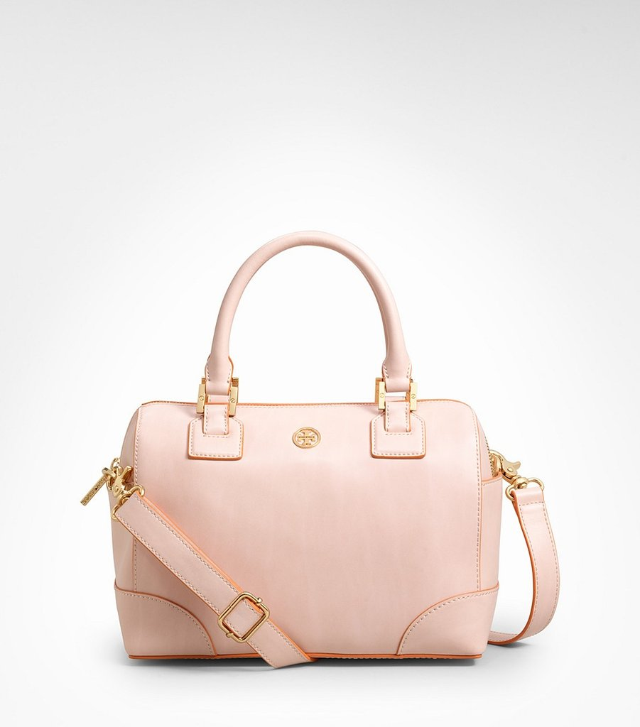 A smaller size, a ballet-pink shade — everything about this mini satchel is ladylike and sophisticated.  Tory Burch Robinson Mini Satchel ($450)