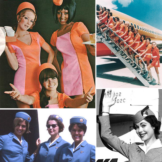 When Flight Attendants Glammed It Up