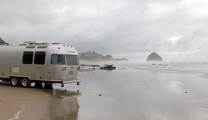 Airstream on the Beach