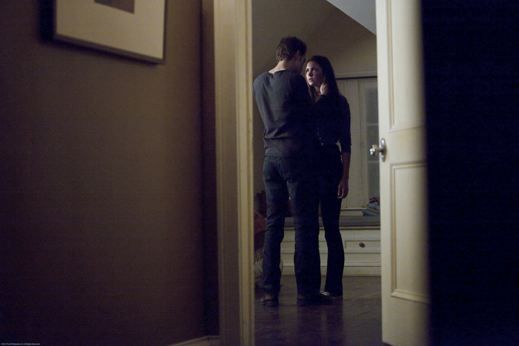 Paul Wesley and Nina Dobrev in The Vampire Diaries.