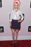 January Jones wore a skirt with a white blouse to The Shops at Target launch party in NYC.