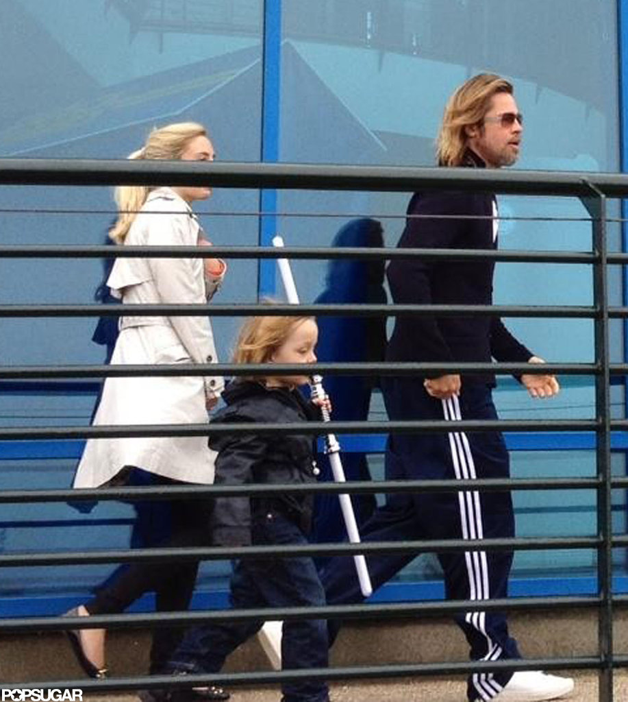 Brad Pitt went to Legoland with Knox Jolie-Pitt.