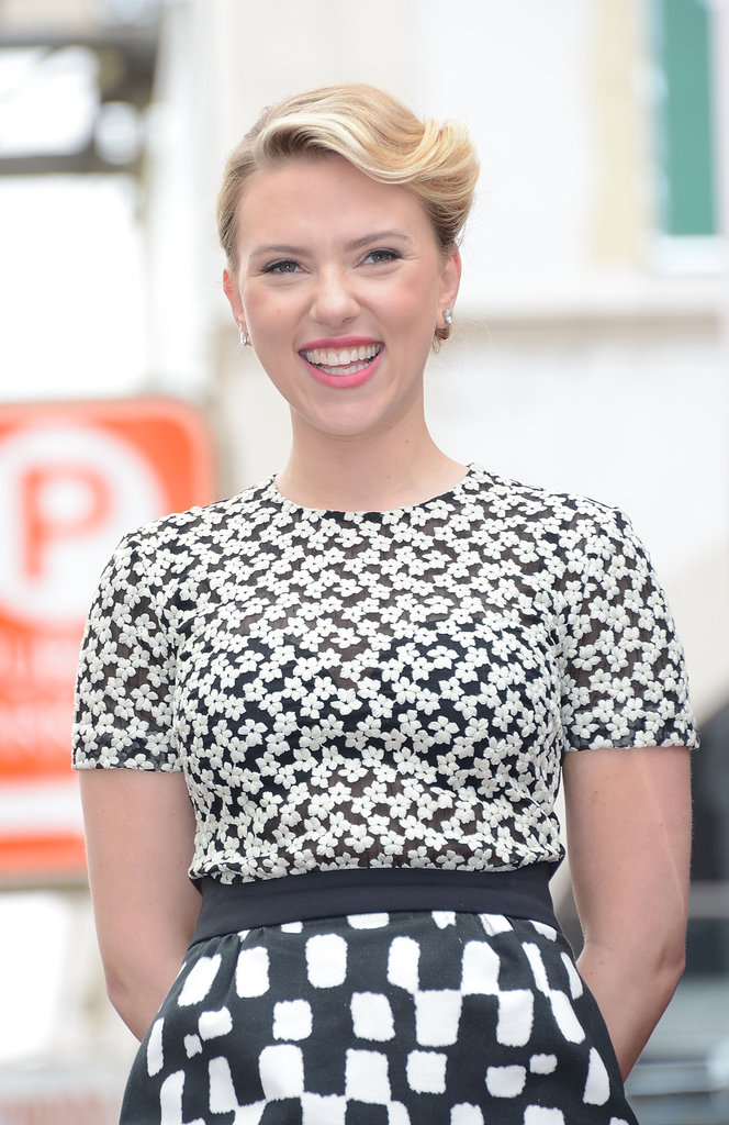 Scarlett Johansson was all smiles on her big day in Hollywood.