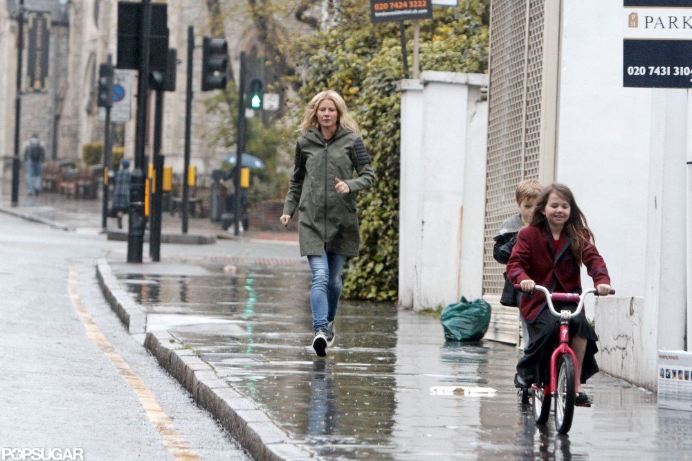 Gwyneth Paltrow was in London with her kids.