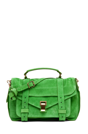 Lime green gives the classic satchel shape an instant Summer upgrade.  Proenza Schouler PS1 Medium in Tropical Green ($1,595)