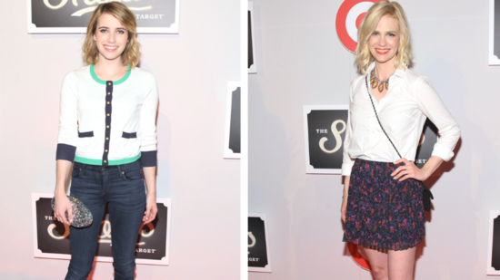 See Emma Roberts and January Jones's Spring-Perfect Outfits at the Shops at Target Launch!