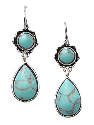Fossil Double Drop Earrings ($28)