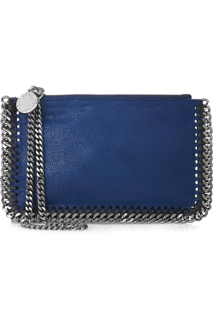 This chain-strap shoulder bag has the perfect blueberry shade.  Stella McCartney Falabella Faux Leather Bag ($400)