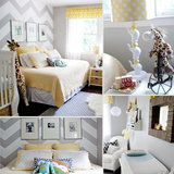 Baby Giacomo's Yellow and Gray Chevron Nursery