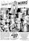 Nothing is more thrilling for a bride than aluminum cookware.