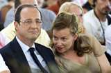 Hollande's new partner, Valérie Trierweiler, has been supporting him this year on the campaign trail.