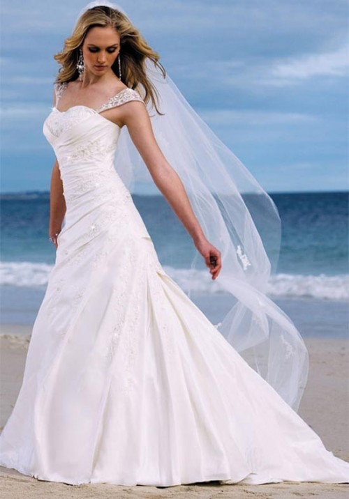 beautiful long wedding dresses