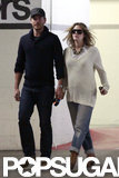 Drew Barrymore and Will Kopelman held hands while they ran errands in LA in May 2012.