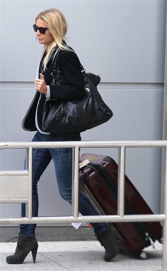 Gwyneth Paltrow arrived at LAX.