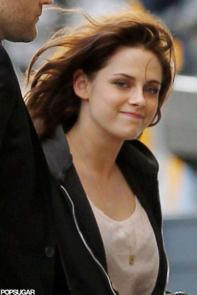 Kristen flashed a smile on her way into Jimmy Kimmel Live.