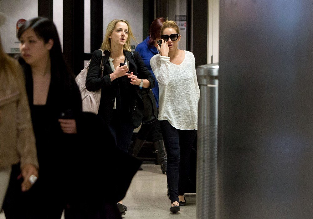 Lauren Conrad carried her luggage through LAX.
