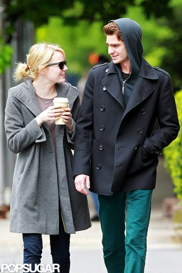 Emma Stone and Andrew Garfield had lunch in their NYC neighborhood.