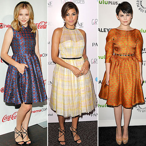 Celebrities Like Eva Mendes And Jessica Alba Wearing Madmen Style Dresses On The Red Carpet