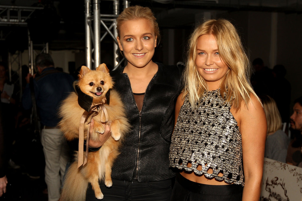 Hermione Underwood and Lara Bingle at Ellery