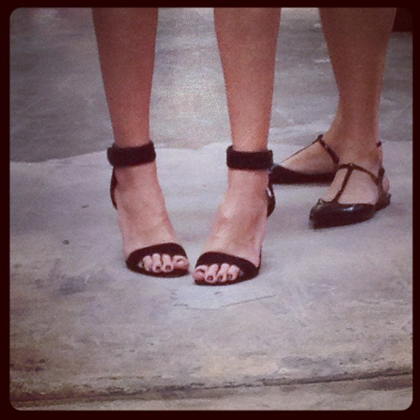 We were kind of stalking these Alexander Wang heels all week...