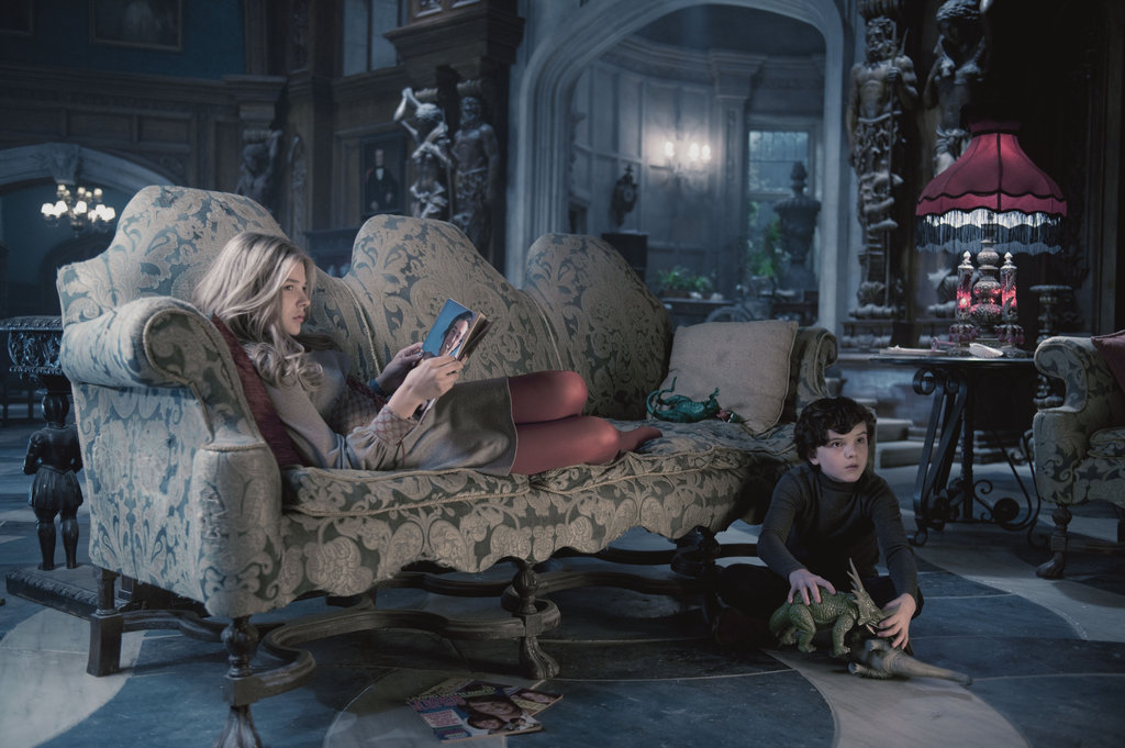 Gulliver McGrath as David Collins, and Chloë Grace Moretz as Carolyn Stoddard in Dark Shadows.  Photo courtesy of Warner Bros.  Photo courtesy of Warner Bros.