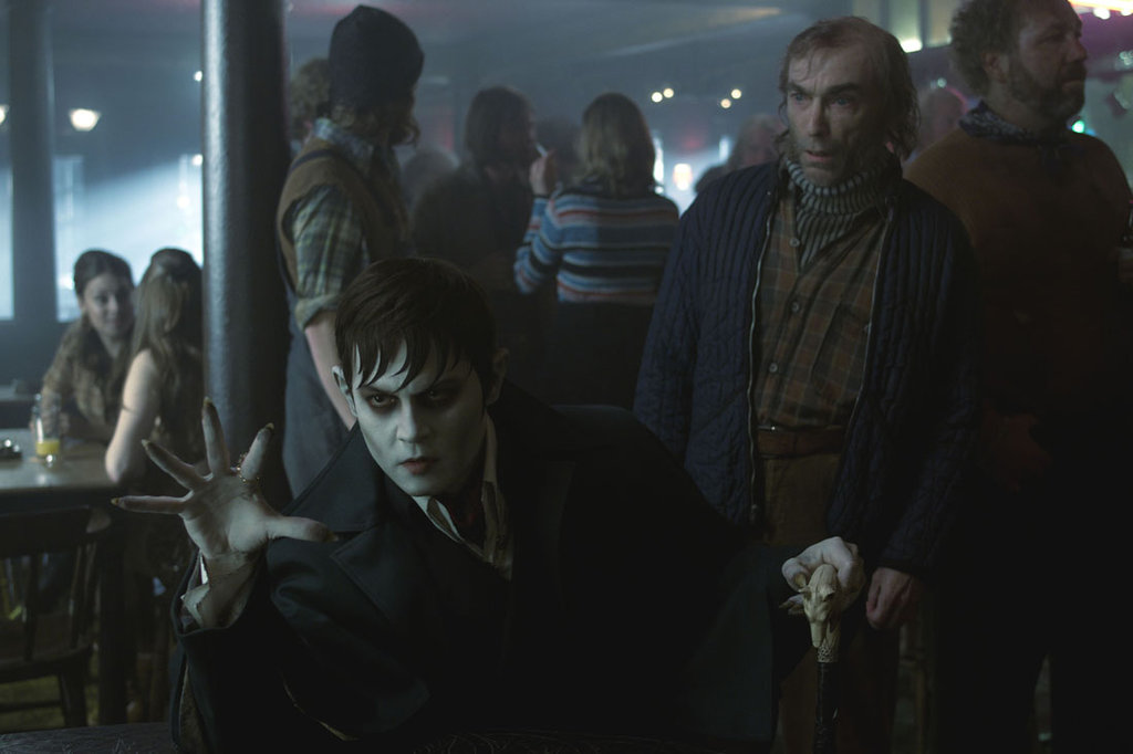 Johnny Depp as Barnabas Collins and Jackie Earle Haley as Willie Loomis in Dark Shadows.  Photo courtesy of Warner Bros.