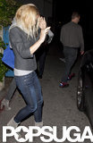 Chris Martin and Gwyneth Paltrow pictured together after dinner in LA with Cameron Diaz.