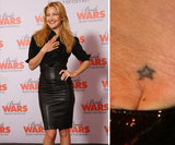 Kate Hudson has an outline of a tiny star on her left foot, near her big toe.