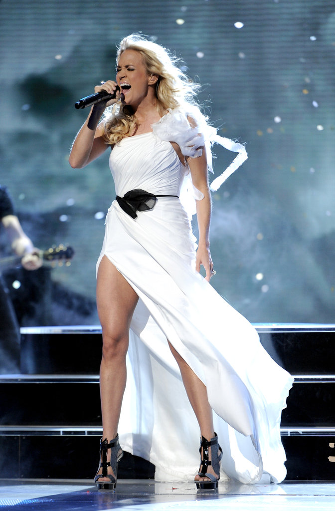 Carrie Underwood performed on American Idol.