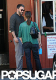 Ben Affleck was affectionate with wife Jennifer Garner as they ran errands together in LA.