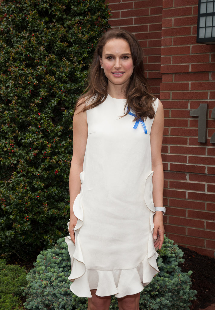 Natalie Portman wore a white dress to the Audrey Hepburn Children's House.