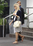 Pregnant Reese Witherspoon walked around LA.