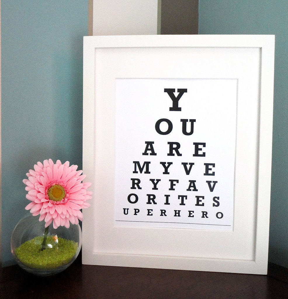 Superhero Eye Chart Print