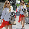 Whitney Port Asymmetrical Skirt May 2012