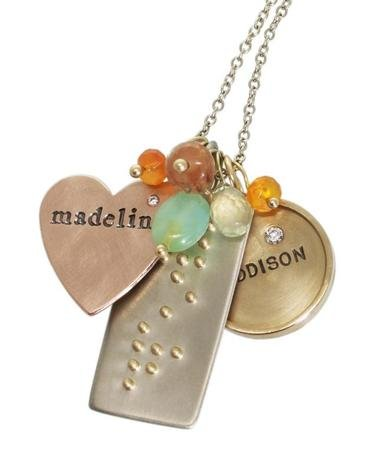 Heather Moore Heart, ID Tag &amp; Round Necklace