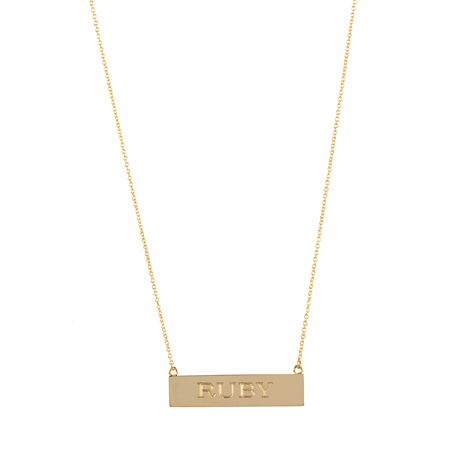 Jennifer Meyer Nameplate Necklace ($1,050)