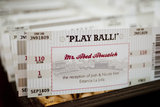 Baseball Ticket Place Cards