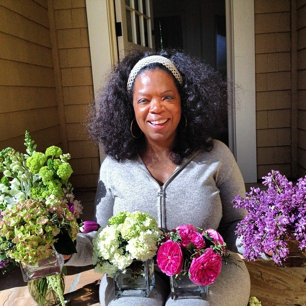 Oprah's partner Stedman sent her a bouquet of flowers from each of their dogs for Mother's Day.  Source: Instagram user oprahwinfrey