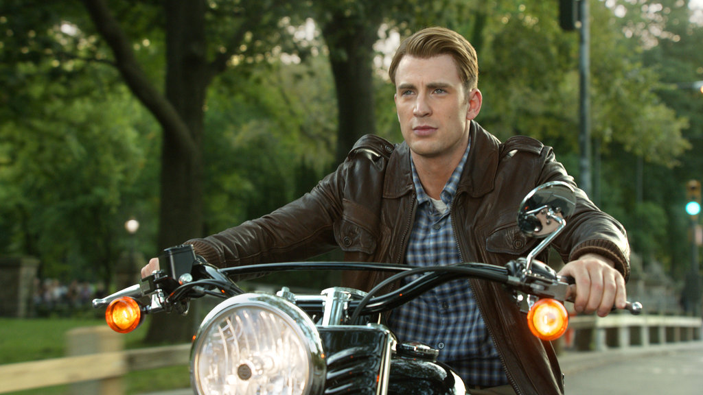 Chris Evans as Captain America in The Avengers.  Photo courtesy of Disney